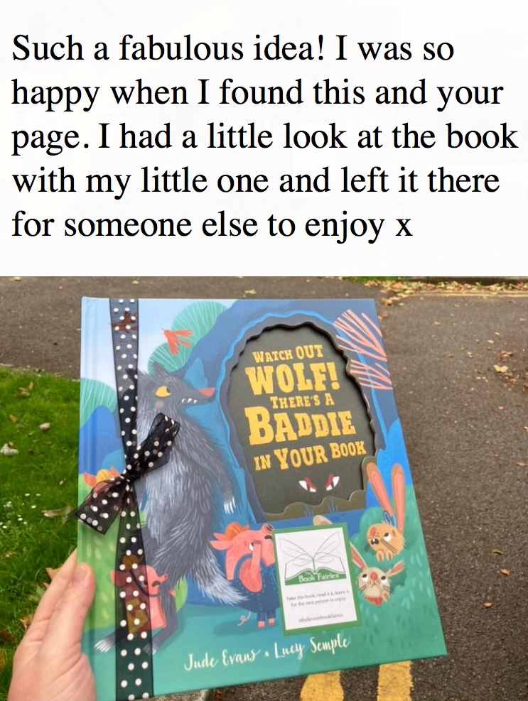 Watch Out Wolf There's A Baddie In Your Book - hidden by book fairies - book found 6