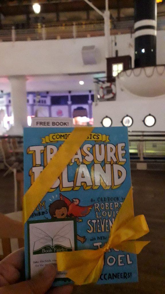 Treasure Island Comic Classics hidden by book fairies in Manchester